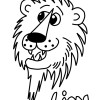 Children's Free Color Me In Lion Print Out