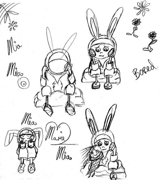Bored Mia Sketches