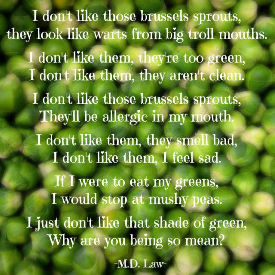 Brussels Sprouts Rhyme