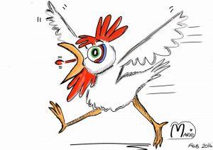 Cartoon Chicken Illustration