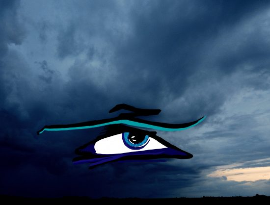 Eye In The Sky Rain Clouds