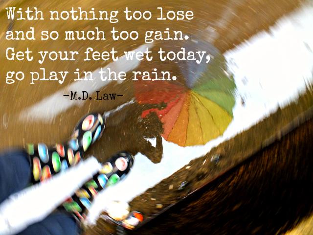 Go Play in the Rain Rhyme