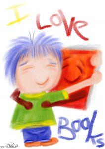 I Love Books Illustration
