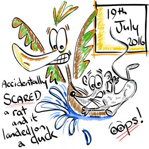 Jumping Rat Illustration