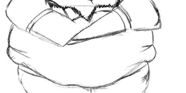 Let Me Keep My Monster Spud Dad Pencil Drawing