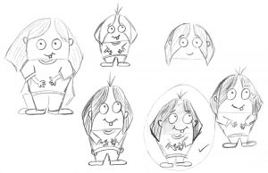 Let Me Keep My Monster Spud Picture Book Early Sketch of the Kid Development