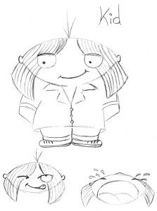 Let Me Keep My Monster Spud Picture Book Early Sketch of the Kid