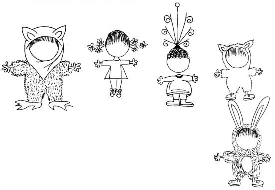 Mia Saves the Circus Body Sketches