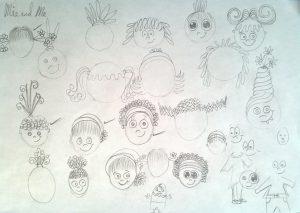 Mia Saves the Circus Face Sketches