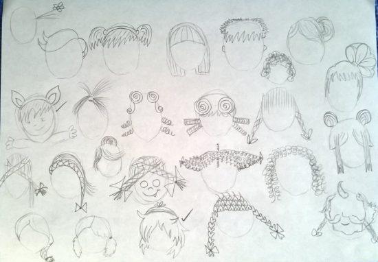 Mia Saves Circus Sister Face Sketches