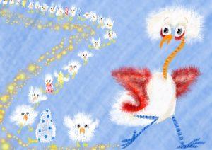 Nuzzle Wuzzle Chicks Illustration