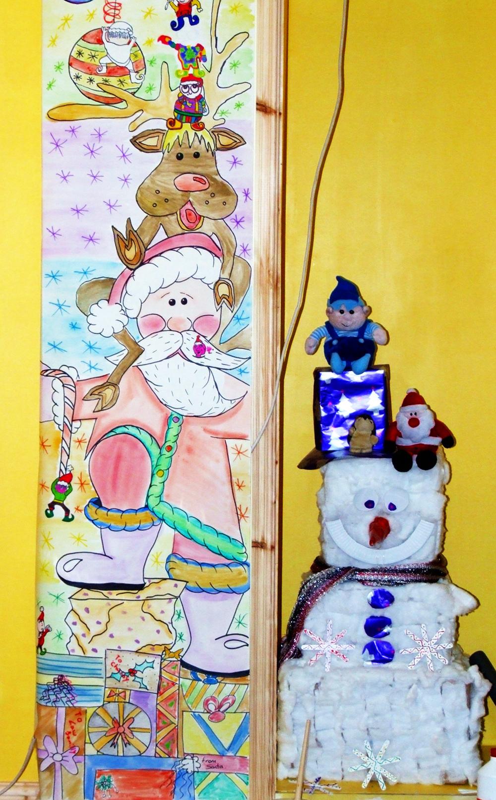 Santa christmas wall mural for Christmas wall mural