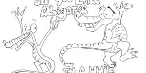 See You Later Alligator Pen Drawing