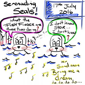 Serenading Seal Illustration