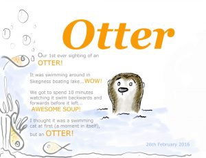 Skegness Otter Sighting Illustration