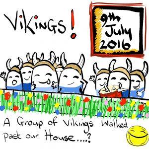 Vikings Invade Illustration
