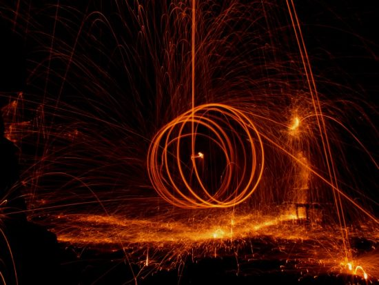 Wire Wool Long Exposure Photography