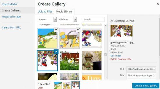 WordPress Create Gallery