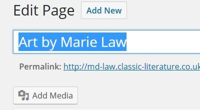 WordPress Page Title