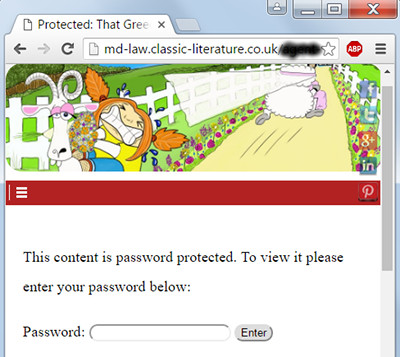 Wordpress Password Protected Page